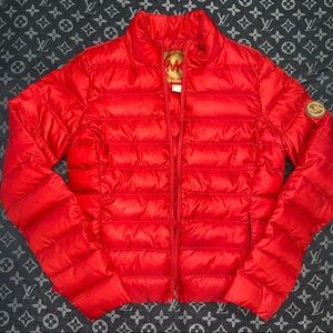 Michael Kors red puffer coat woman's size small